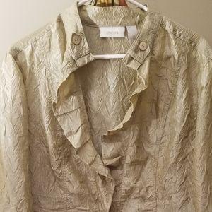 Lightweight button up coat